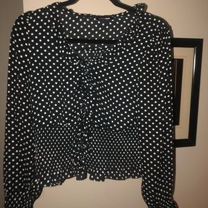 Polka dot Workwear Blouse